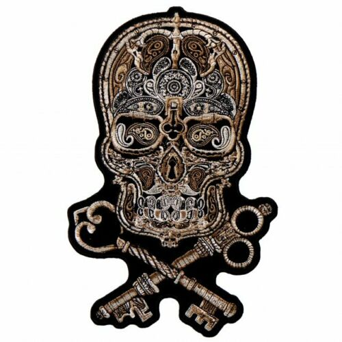 Skull with Keys Large Patch