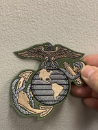 US MARINE CORPS LOGO PATCH ( OLIVE GREEN )