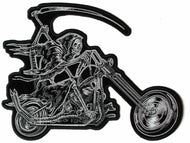 Reaper on Motorcycle Large Patch