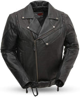 Men's Black Classic Leather Motorcycle Jacket