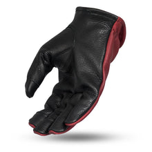 Load image into Gallery viewer, First MFG Men's Oxblood / Black Leather Gloves ( ROPER ) FI217