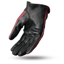 Load image into Gallery viewer, First MFG Men's Leather OxBlood & Black Leather Preforated Gloves ( ROPER ) FI218