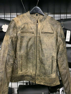 Women's Distress Brown Leather Motorcycle Jacket