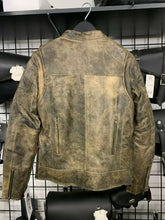 Load image into Gallery viewer, Women's Distress Brown Leather Motorcycle Jacket