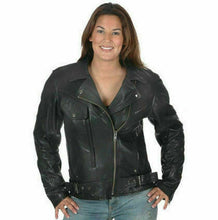 Load image into Gallery viewer, Ladies Leather Motorcycle Jacket ( Brando ) 2588.00