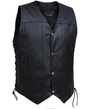 Load image into Gallery viewer, Men's 10 Pocket Split Leather Vest 2632.LC