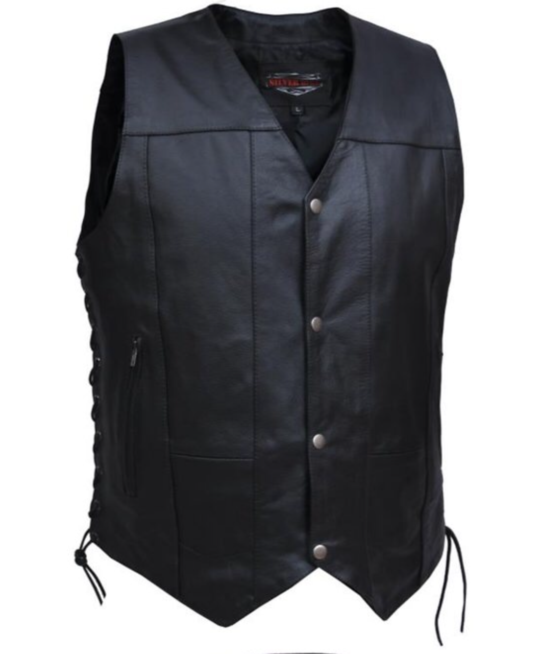 Men's 10 Pocket Split Leather Vest 2632.LC