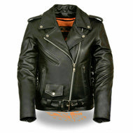 Milwaukee Leather Ladies Full Length Side Lace Motorcycle Jacket