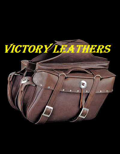 Brown Leather Motorcyle Saddle Bags 2918.BZ