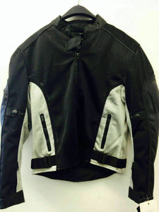 Ladies Black & Grey Breathable Motorcycle Jacket with Pads