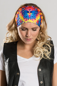 Ladies EZ Bandz By Hair Glove Bling Tie-Dye Butterfly
