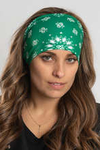 Load image into Gallery viewer, Ladies EZ Bandz By Hair Glove Green Paisley with Gems