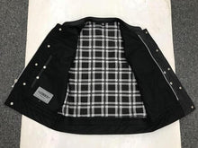 Load image into Gallery viewer, Men's Unik Leather Vest with Black & White Flannel Lining 6664.00