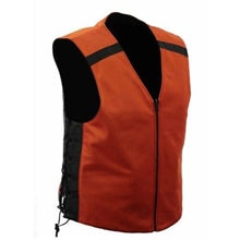 Load image into Gallery viewer, Men's Leather Reverseable Motorcycle Vest FIM675CSL