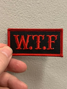 W.T.F ( Black & Red ) Patch