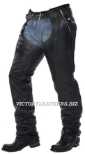 Load image into Gallery viewer, Unisex Leather Motorcycle Chaps 7145.00