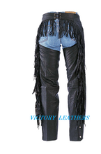 Load image into Gallery viewer, Women's Leather Chaps with Fringes 0733.00