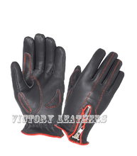 Load image into Gallery viewer, Women's Leather Gloves with Red Stitching 8261.01