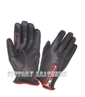 Women's Leather Gloves with Red Stitching 8261.01