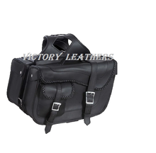Load image into Gallery viewer, Black Braided PVC Saddle Bags 9330.ZP