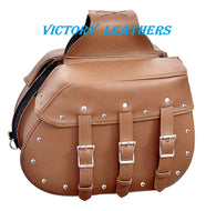 Laconia Series Brown Leather Saddle Bags 9351.ZP