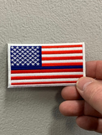 Thin Blue Line RWB American Flag Patch