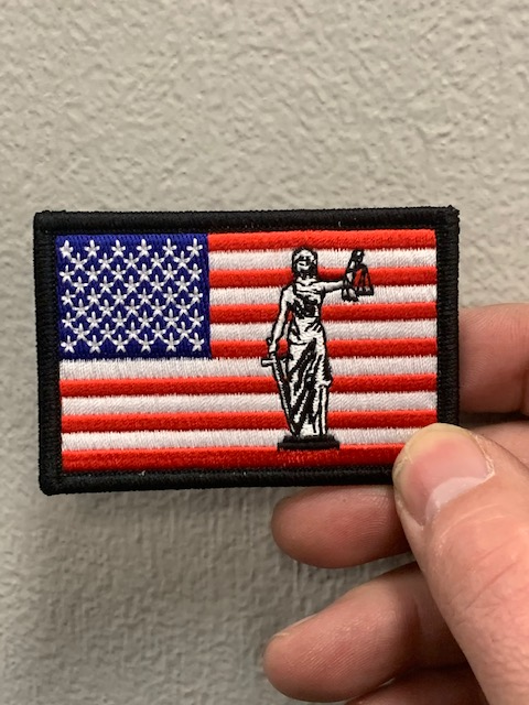 American Flag Scales of Justice Patch