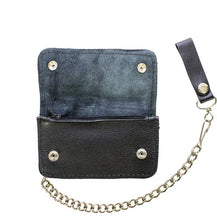 Load image into Gallery viewer, Men's Black Biker / Trucker Bifold Chain Wallet  AC50-11HD