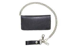 Heavy Duty Black Leather Chain Wallet AC51-N-11