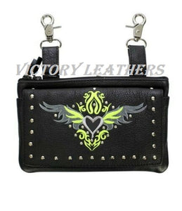 Women's Leather Hip Belt Loop Bag ( Multi Colors ) BAG35-EBL1