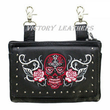Load image into Gallery viewer, Women's Studded Sugar Skull Naked Cowhide Leather Belt Bag ( Multi Colors ) BAG35-EBL14