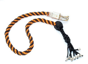 "Black & Harley Orange Paracord 36"" Get Back Whip"
