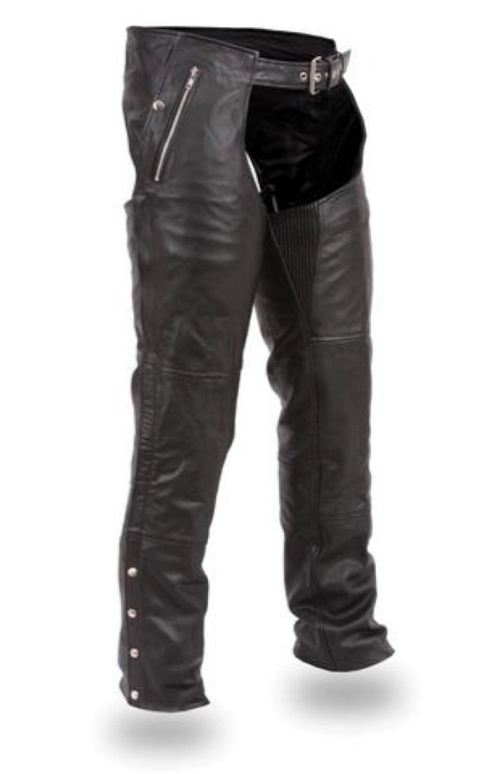 First MFG Men's Leather Chaps ( PATRIOT ) FIM840CSL