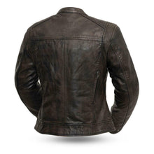 Load image into Gallery viewer, Ladies Leather Motorcycle Jacket, FIL164SDC ( TRICKSTER )