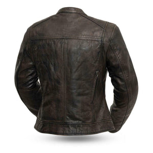 Ladies Leather Motorcycle Jacket, FIL164SDC ( TRICKSTER )
