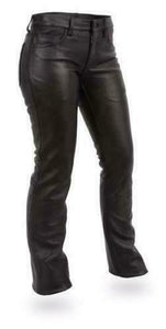 Women's Leather Pants ( ALEXIS ) FIL710CFD