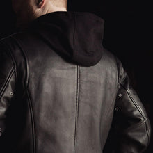 Load image into Gallery viewer, Men's Leather Jacket with Hoodie ( STREET CRUISER ) FIM248CCBZ