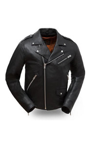 Men's First MFG Leather Motorcycle Jacket ( ENFORCER ) FIM297CLMZ Multi Colors