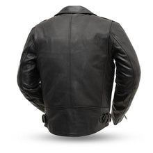 Load image into Gallery viewer, Men's First MFG Leather Motorcycle Jacket ( ENFORCER ) FIM297CLMZ Multi Colors