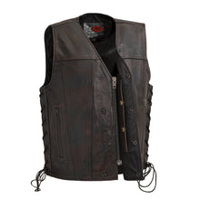 Load image into Gallery viewer, Men's Copper Leather Vest ( HIGH ROLLER ) FIM619CV