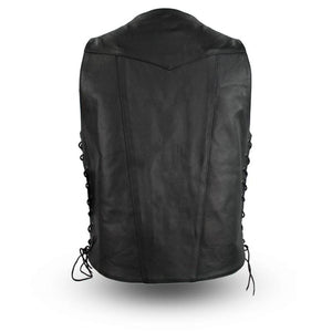 Men's Tall Leather Vest ( TOP BILLER ) FIM630CFD-Tall