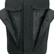 Load image into Gallery viewer, Men's Motorcycle Canvas Vest Conceal Carry Pockets ( HIGHLAND V2 ) FIM692CNVS