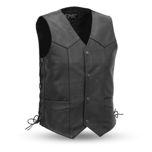 Men's Leather Vest ( CARBINE ) FMM602BM