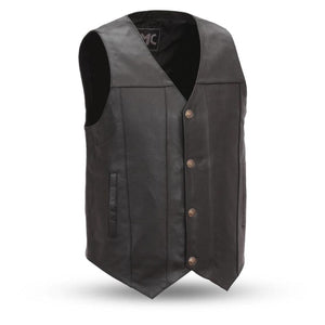 Men's Leather Western Style Vest ( GUN RUNNER ) FMM611BSF