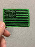 Green & Black American Flag Patch