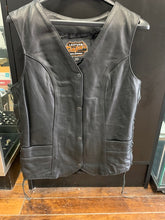 Load image into Gallery viewer, Women's Tall Leather Motorcycle Vest 2659.T