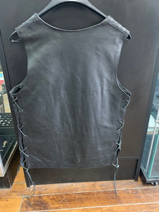 Women's Tall Leather Motorcycle Vest 2659.T
