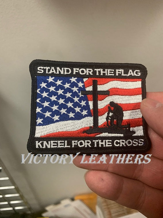 Stand for the Flag Kneel for the cross Patch