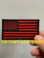 Black & Red American Flag Patch