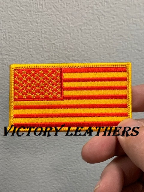 Gold & Red American Flag Patch